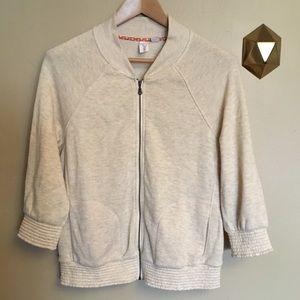 Anthropologie Lilka Avena Zip Up Jacket Sweatshirt